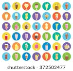 milkshakes   a collection of... | Shutterstock .eps vector #372502477