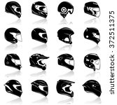 Helmets Icon Set  Illustration