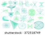 big collection of elements ... | Shutterstock .eps vector #372518749