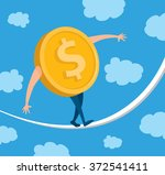 cartoon illustration of dollar...   Shutterstock .eps vector #372541411