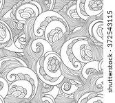 vector doodle wavy seamless... | Shutterstock .eps vector #372543115