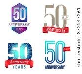 50 years anniversary logo | Shutterstock .eps vector #372547261