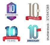 10 years anniversary logo | Shutterstock .eps vector #372547285