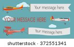 plane with banner | Shutterstock .eps vector #372551341