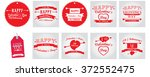 set of colored banners and... | Shutterstock .eps vector #372552475