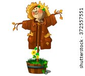 A Perfect Scarecrow Isolated O...