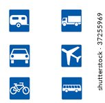 a set of six travel and... | Shutterstock . vector #37255969