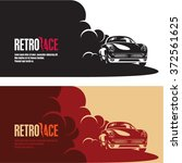 retro car race banner  retro... | Shutterstock .eps vector #372561625