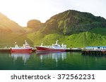 ships in a harbour | Shutterstock . vector #372562231