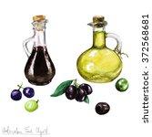 watercolor food clipart   ... | Shutterstock . vector #372568681