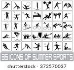 icons of summer sports | Shutterstock .eps vector #372570037