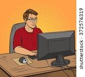 software developer coder at... | Shutterstock . vector #372576319