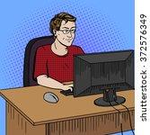 software developer coder at... | Shutterstock . vector #372576349