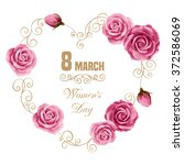 Women's Day Floral Card With...