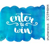 enter to win  giveaway banner.... | Shutterstock .eps vector #372594844