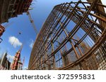 construction site. armature in... | Shutterstock . vector #372595831