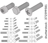 bolts   screws | Shutterstock .eps vector #372599581