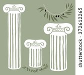 Vector Marble Columns And Oliv...