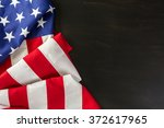 large american flag on the... | Shutterstock . vector #372617965