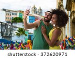 brazilian couple taking a... | Shutterstock . vector #372620971