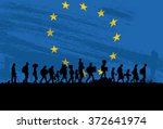 Silhouette Of A Group Of...