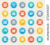 home appliances icons on color... | Shutterstock .eps vector #372645337