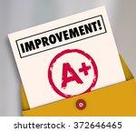 improvement word on a report...   Shutterstock . vector #372646465