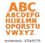 orange 3d letter alphabet. | Shutterstock . vector #372651775