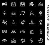 franchise line icons on black... | Shutterstock .eps vector #372655789