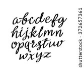 vector alphabet. hand drawn... | Shutterstock .eps vector #372657361
