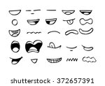 mouth icon. hand drawing... | Shutterstock .eps vector #372657391