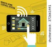 smart home   remote control... | Shutterstock .eps vector #372661441