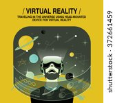 virtual reality experience in...   Shutterstock .eps vector #372661459