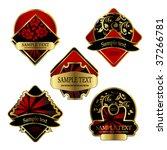 vector labels | Shutterstock .eps vector #37266781