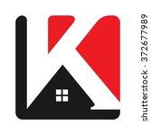 letter k logo vector.  | Shutterstock .eps vector #372677989