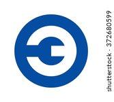 number 3 inside circle logo... | Shutterstock .eps vector #372680599