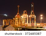 container port terminal and... | Shutterstock . vector #372685387