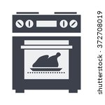 vector icon of kitchen electric ... | Shutterstock .eps vector #372708019