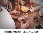 view on friends having... | Shutterstock . vector #372712435