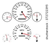 vector car dashboards with... | Shutterstock .eps vector #372722395