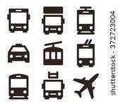 public transport icons   bus ... | Shutterstock .eps vector #372723004