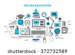 online education concept in... | Shutterstock .eps vector #372732589