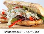 Tasty Beef Steak Sandwich With...