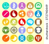 vector icons of medical subjects   Shutterstock .eps vector #372740449