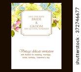 vintage delicate invitation... | Shutterstock .eps vector #372746677