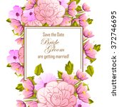 vintage delicate invitation... | Shutterstock .eps vector #372746695