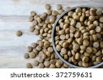 pet food in circle stainless... | Shutterstock . vector #372759631