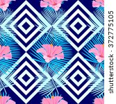tropical seamless pattern with... | Shutterstock . vector #372775105