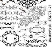 big ornate set is isolated on... | Shutterstock . vector #372778429