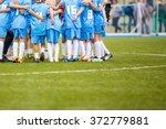 coach giving children's soccer... | Shutterstock . vector #372779881